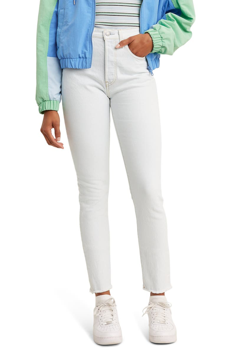 LEVI'S<SUP>®</SUP> 501<sup>®</sup> High Waist Skinny Jeans, Main, color, FAINT HEARTED