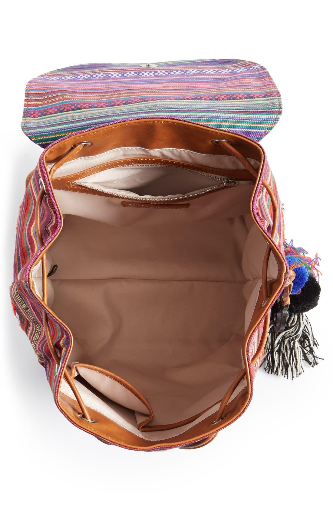 ,                             'Bella' Woven Backpack,                             Alternate thumbnail 8, color,                             650