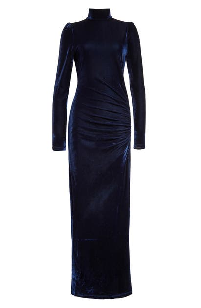 Reformation Moonlight Long Sleeve Gown In Galaxy