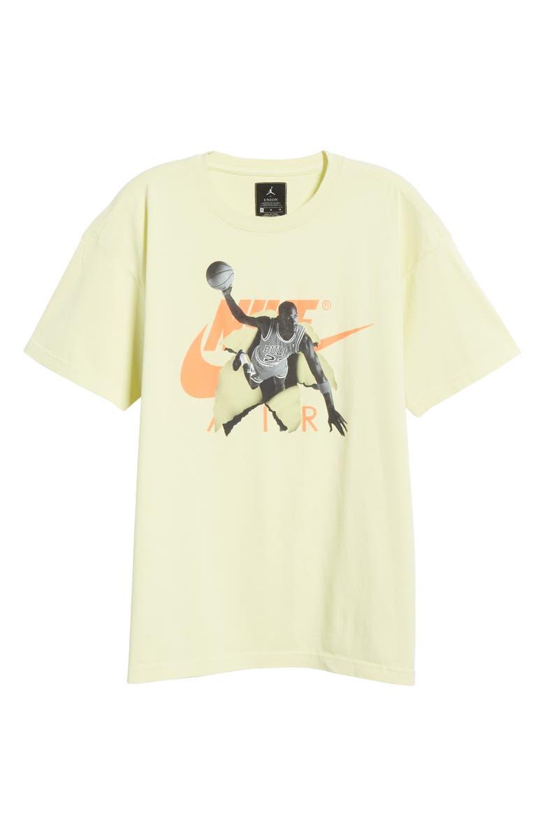 JORDAN Air Men's Graphic T-Shirt, Main, color, LUMINOUS GREEN