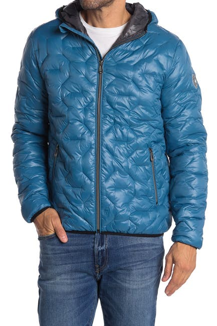 Image of NOIZE Griffin Hooded Lightweight Zip Puffer Jacket