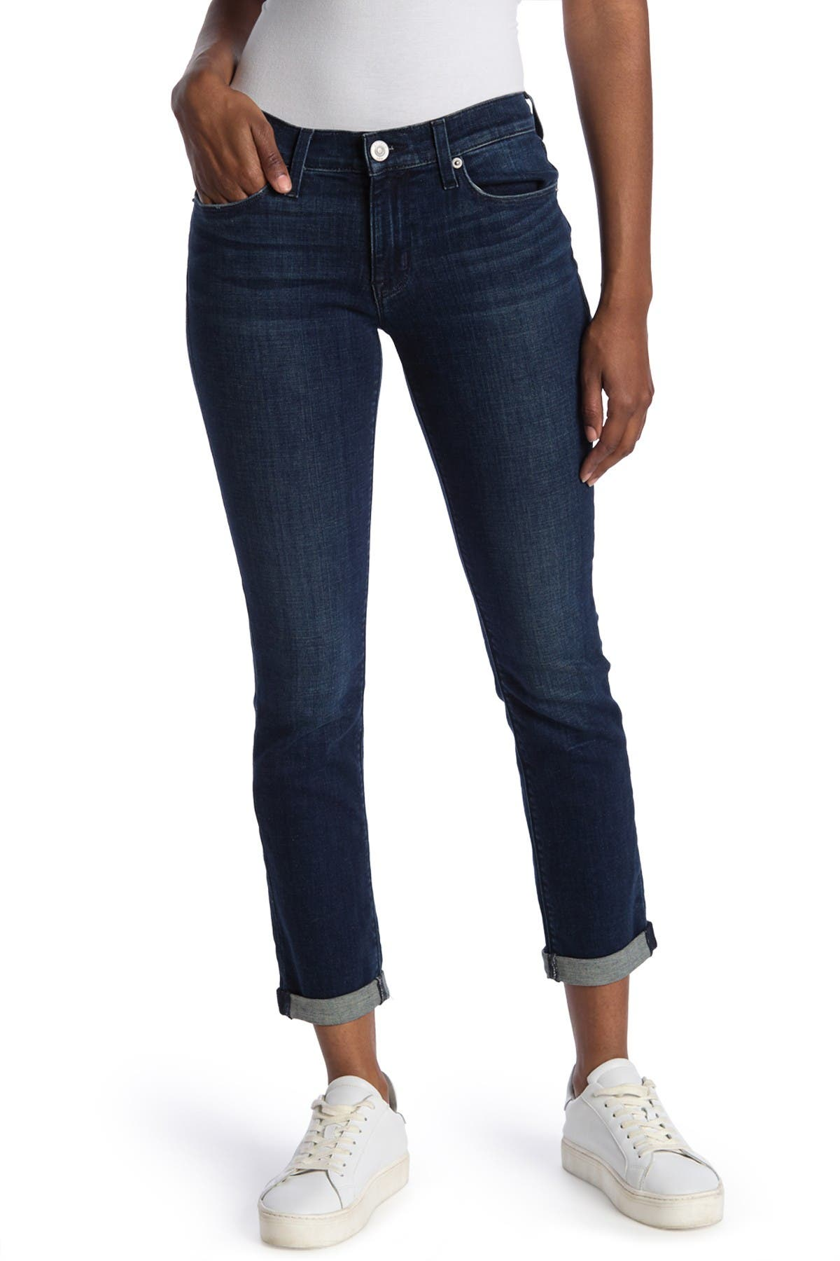 Image of HUDSON Jeans Krista Low Rise Straight Leg Cropped Jeans