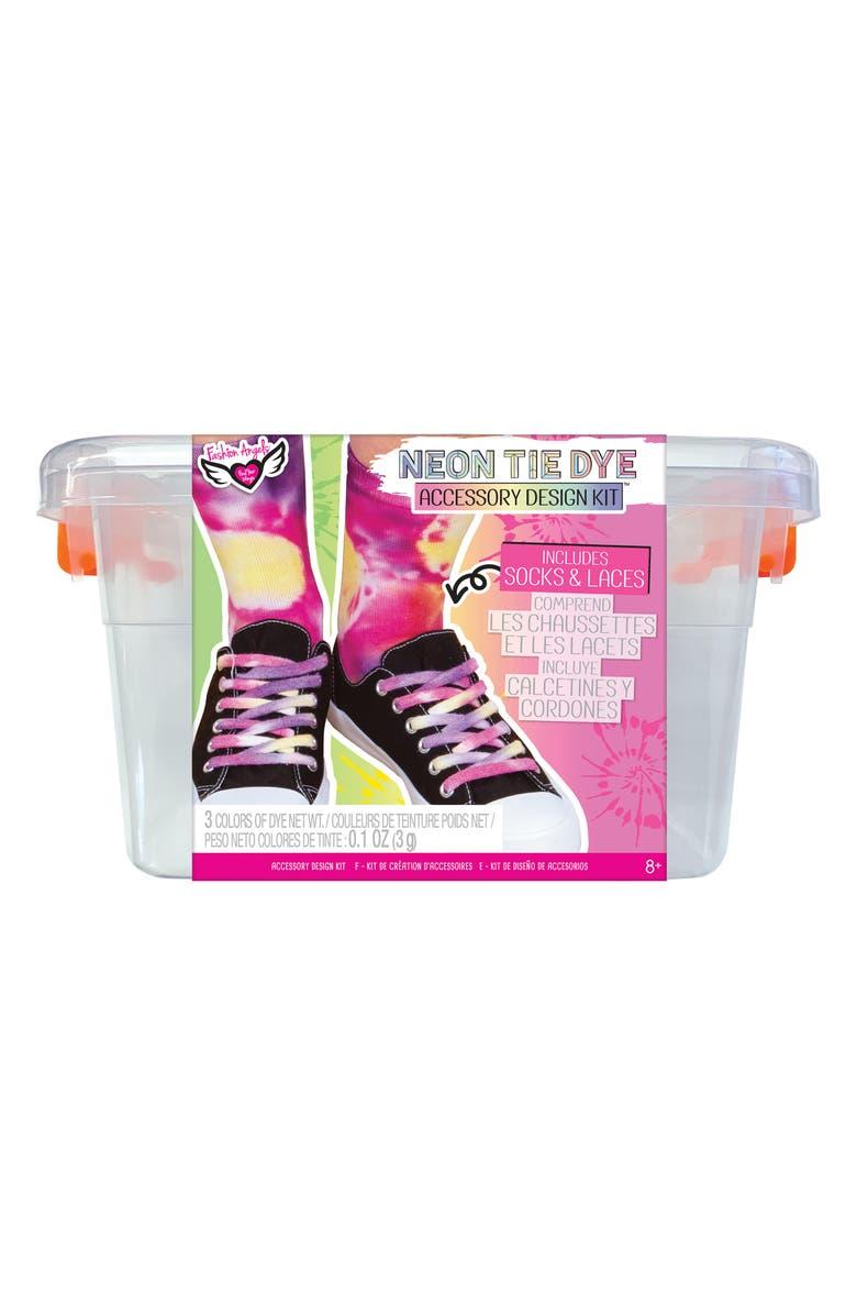 FASHION ANGELS Neon Tie Dye Accessory Design Kit, Main, color, MULTI