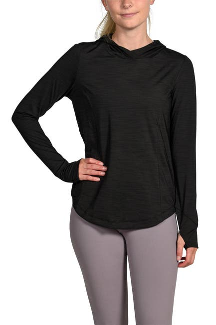 Image of 90 Degree By Reflex Cold Gear Long Sleeve Hooded Top