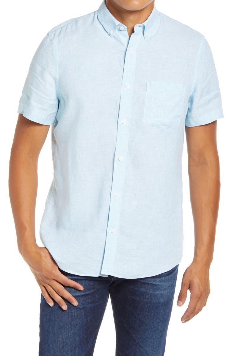 1901 Linen Slim Fit Shirt, Main, color, 450