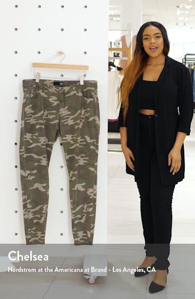Mia Camo Print Toothpick Skinny Pants, sales video thumbnail