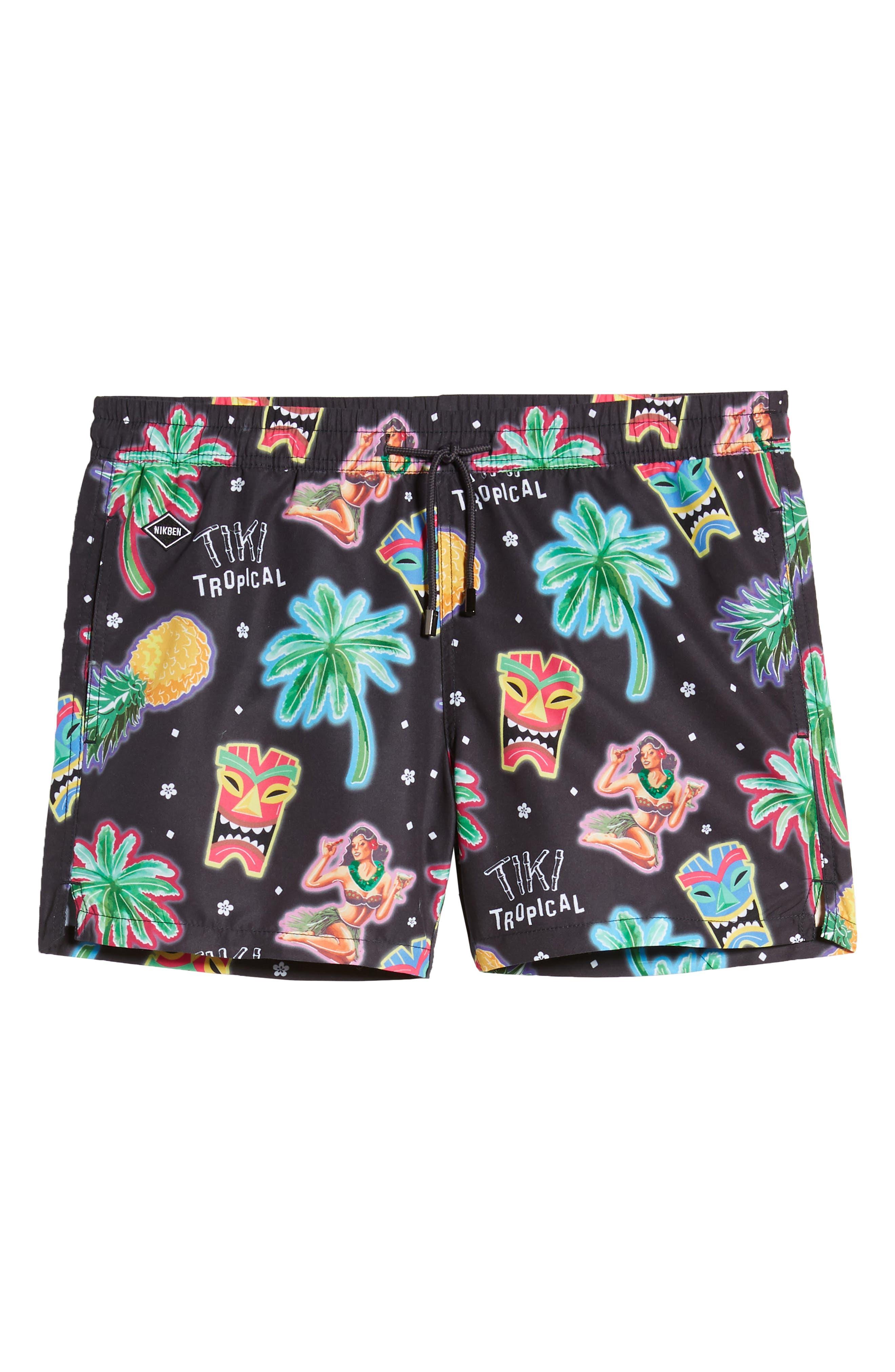 ,                             Tiki Tropical Swim Trunks,                             Alternate thumbnail 6, color,                             MULTI
