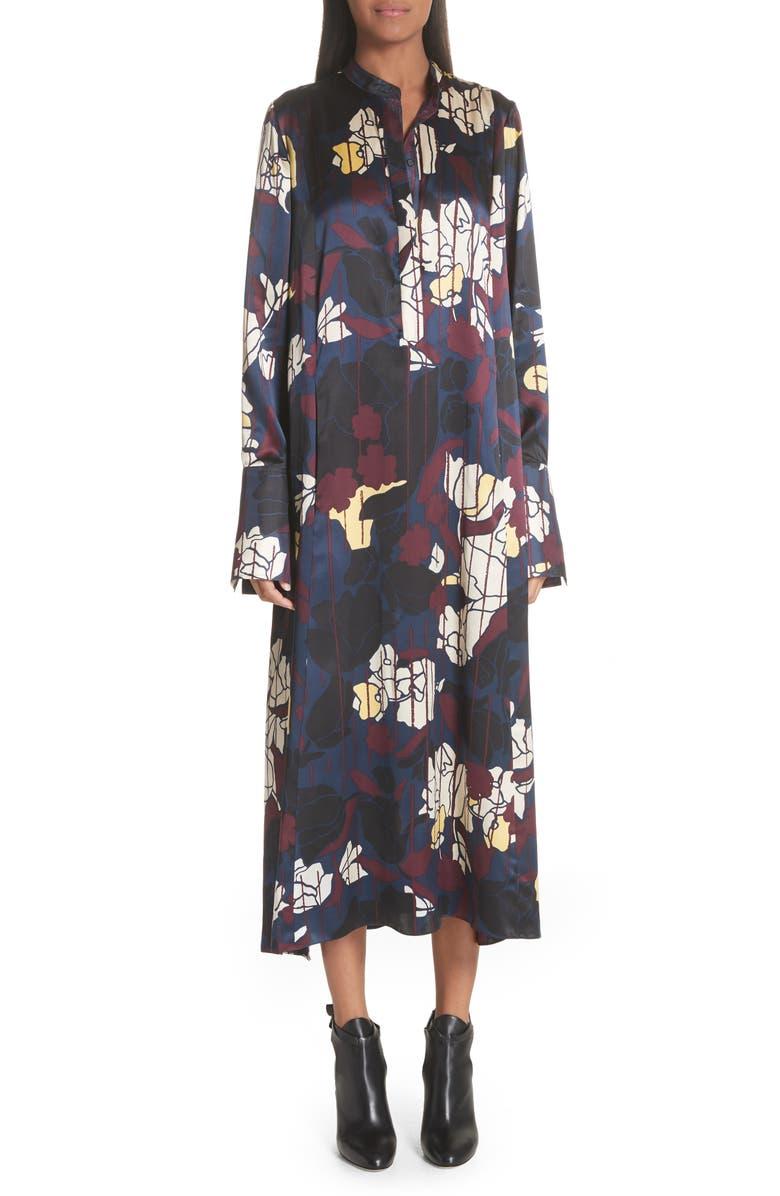 ROKSANDA Anwyn Floral Silk Dress, Main, color, 400