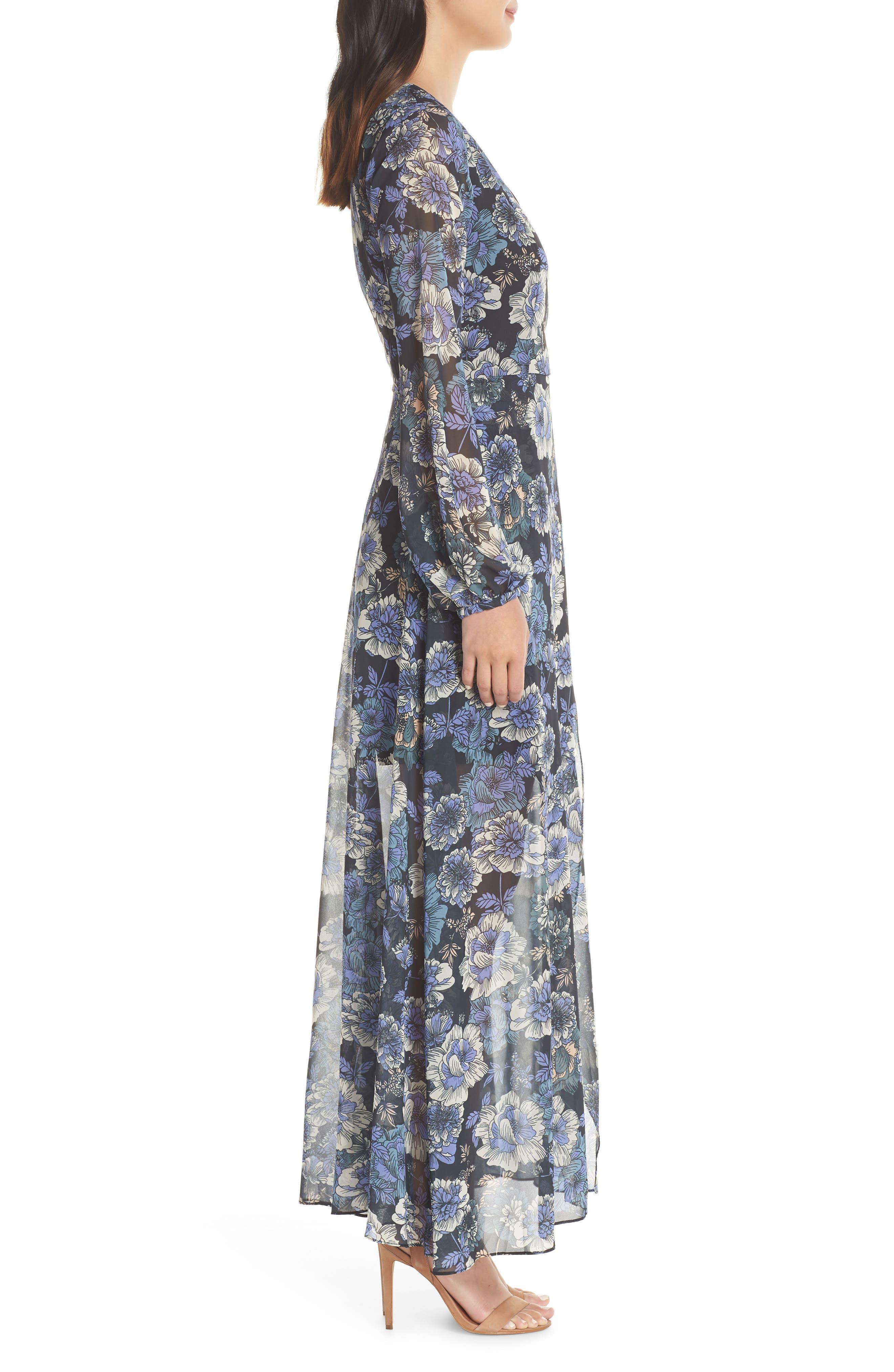 ,                             Floral Fantasy Maxi Dress,                             Alternate thumbnail 4, color,                             PRINT