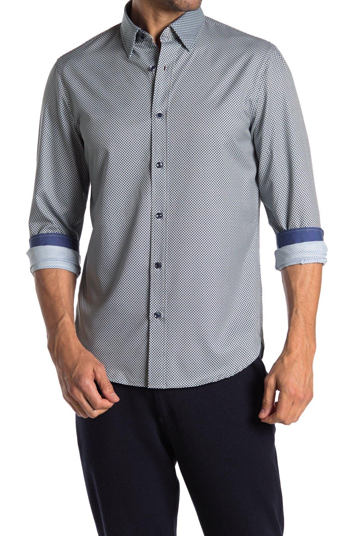 Image of BROOKLYN BRIGADE Mini Gingham Print Performance Shirt
