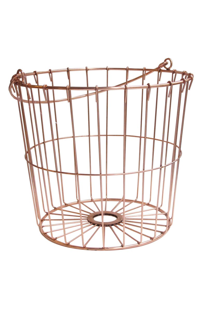 AMERICAN ATELIER Copper Finish Easter Basket, Main, color, 220