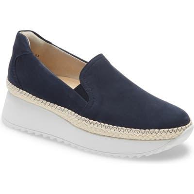 Paul Green Candice Slip-On Platform Sneaker, .5UK - Blue