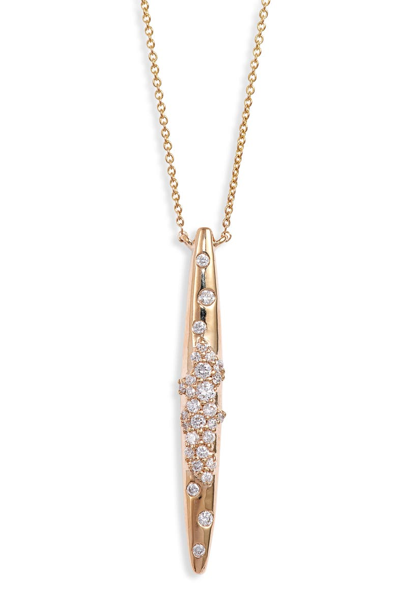 DANA REBECCA DESIGNS Cynthia Rose Spike Diamond Pendant Necklace, Main, color, YELLOW GOLD