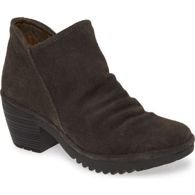 Fly London Wezo Bootie,10.5- Grey