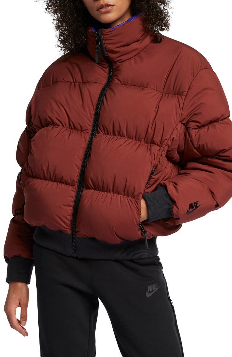 NIKE NRG Reversible Down Fill Puffer Jacket, Main, color, 250
