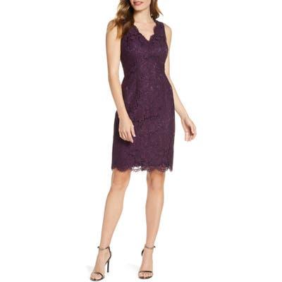 Vince Camuto Lace Sheath Dress, Purple