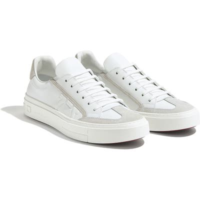 Salvatore Ferragamo Borg Sneaker, White