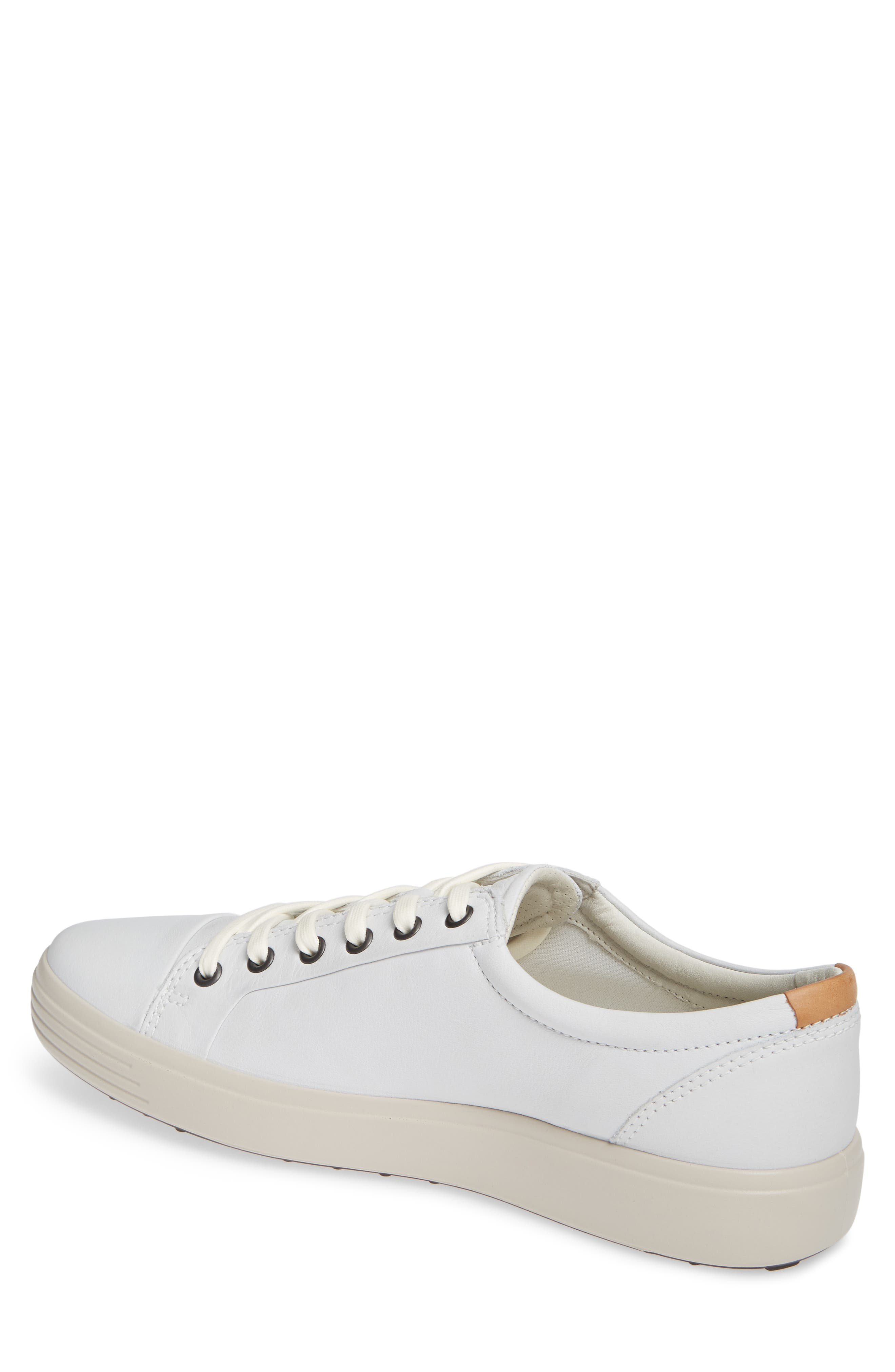 ,                             Soft VII Lace-Up Sneaker,                             Alternate thumbnail 2, color,                             WHITE LEATHER