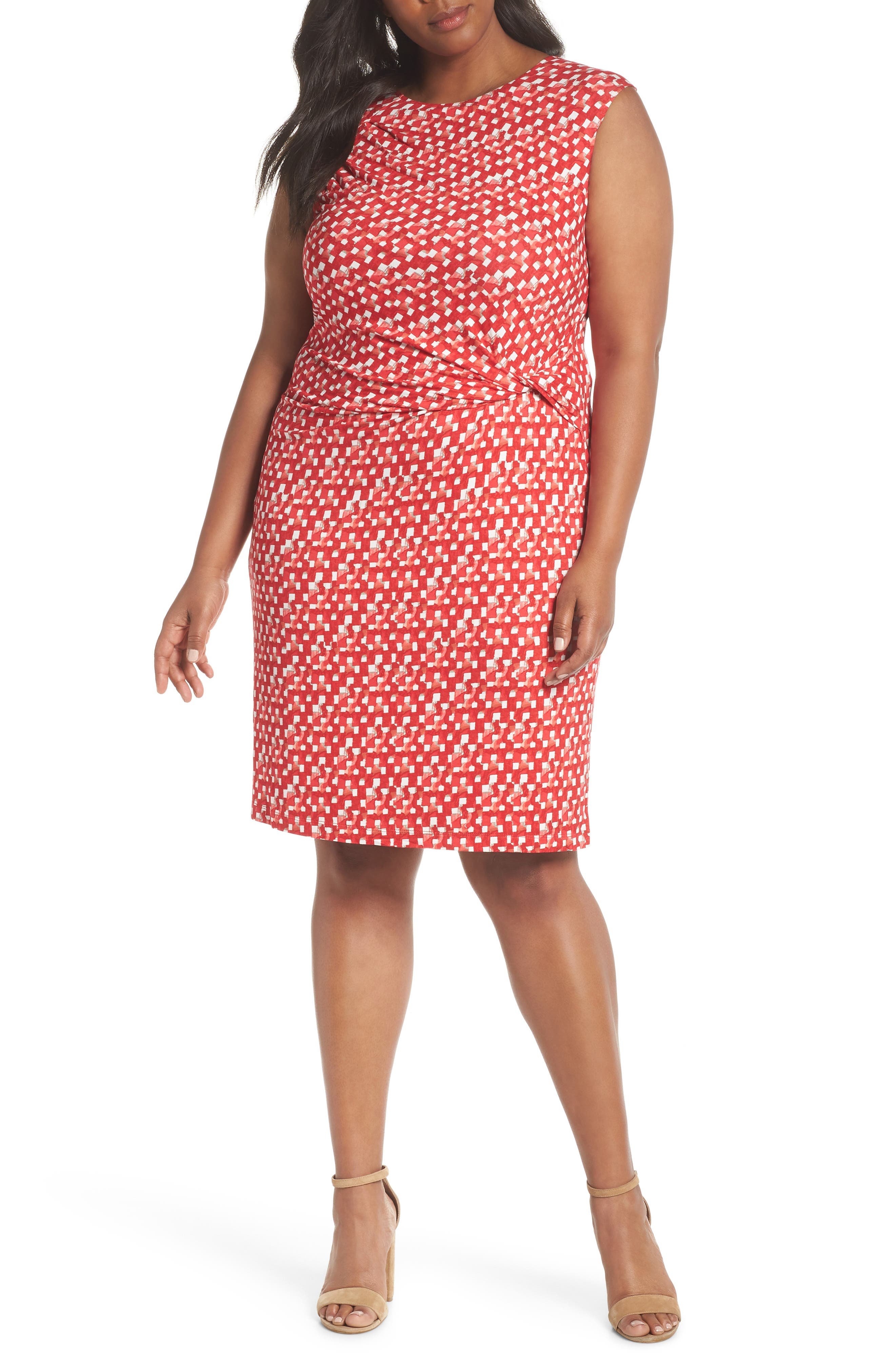Plus Size Nic+Zoe Two To Tango Twist Dress, Red