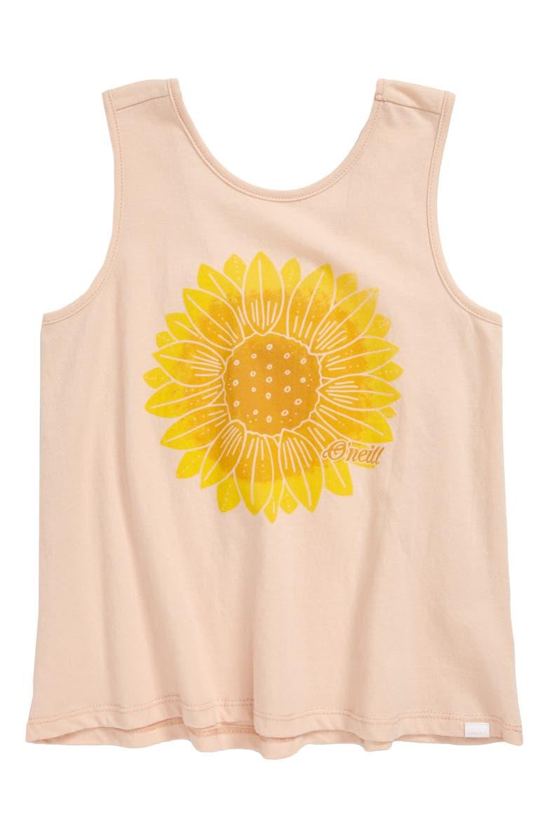 O'NEILL Sunny Graphic Tank, Main, color, BLUSH