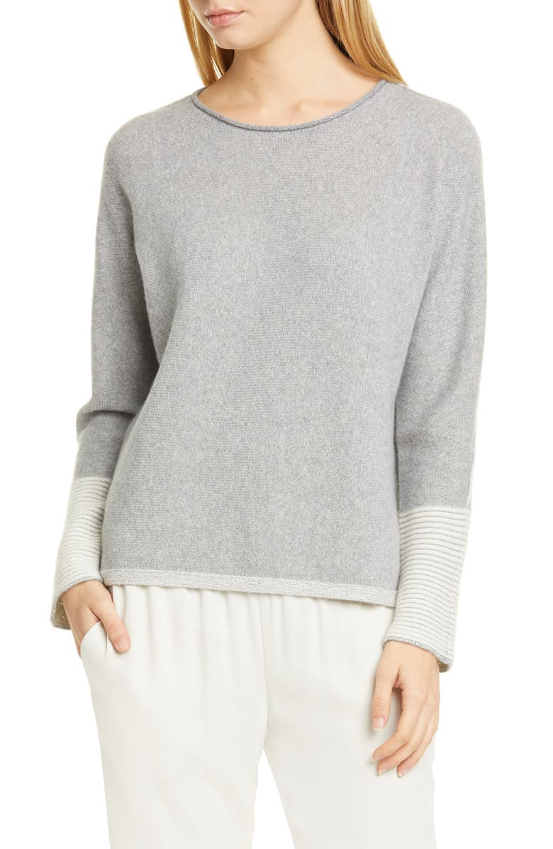 EILEEN FISHER Cashmere Blend Sweater, Main, color, 087