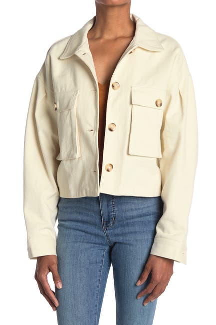 Image of Elodie Double Pockets Twill Jacket