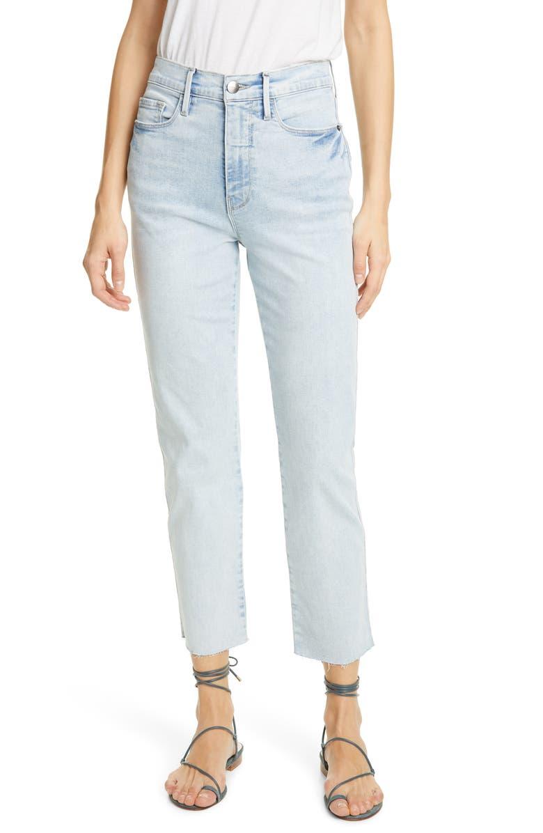 FRAME Le Sylvie High Waist Ankle Slender Straight Leg Jeans, Main, color, 450