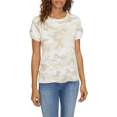 Sanctuary The Perfect Camo Linen Tee, Ivory