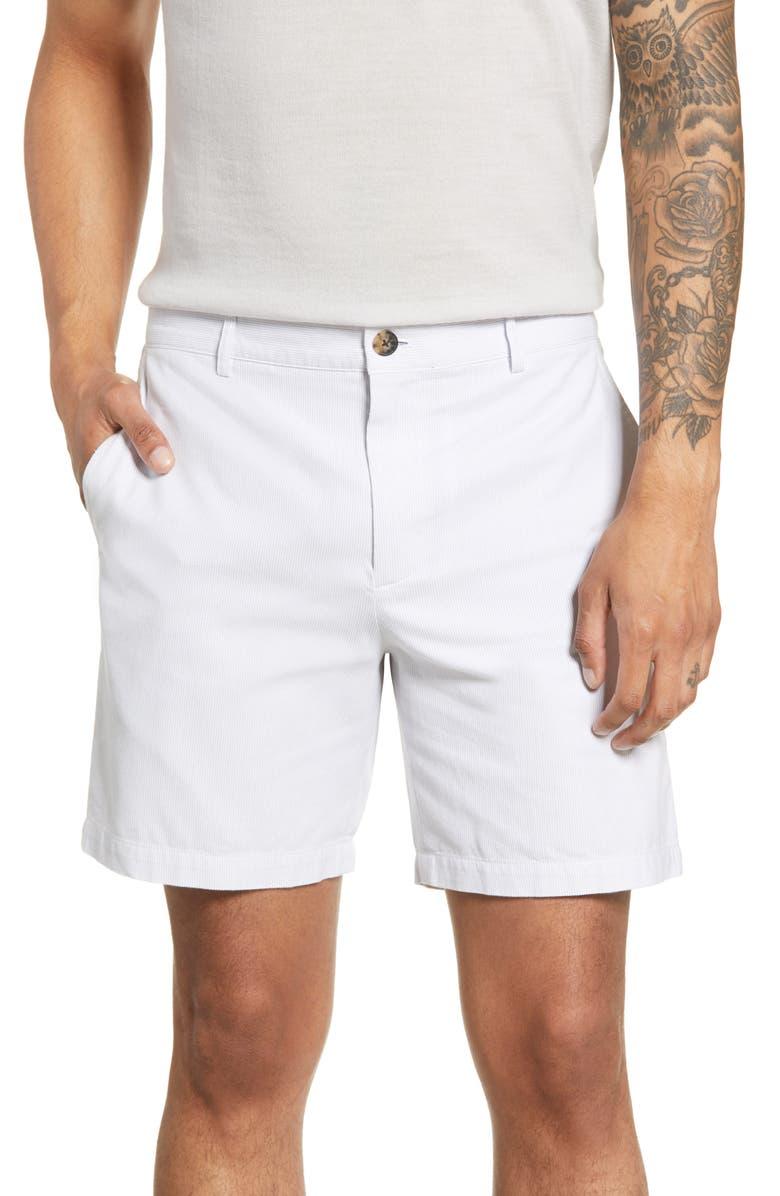 CLUB MONACO Baxter Pincord Shorts, Main, color, LAVENDER