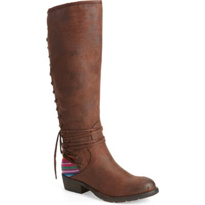 Very Volatile Marcel Corseted Knee High Boot- Brown