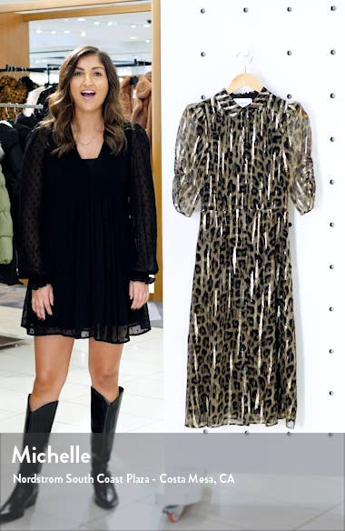 Metallic Leopard Print Shirtdress, sales video thumbnail