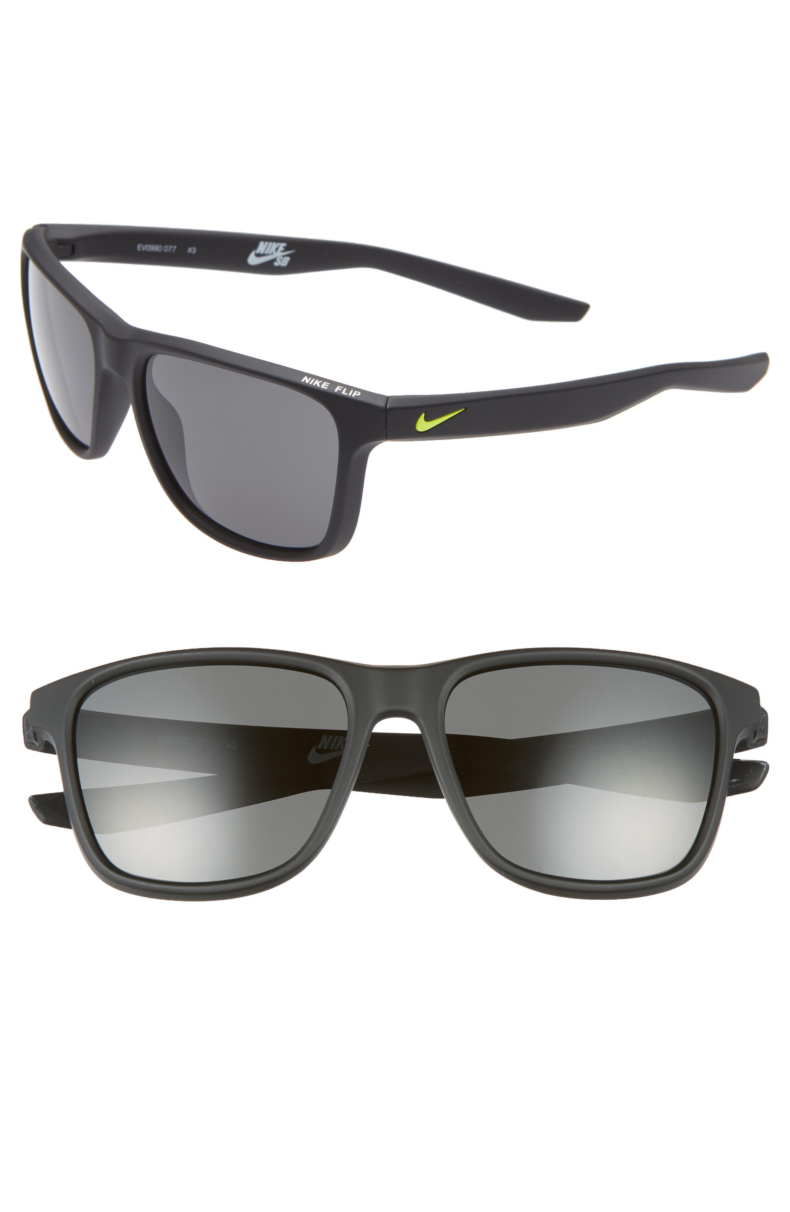 Nike Flip 5m Mirrored Sunglasses - Matte Black/ Grey