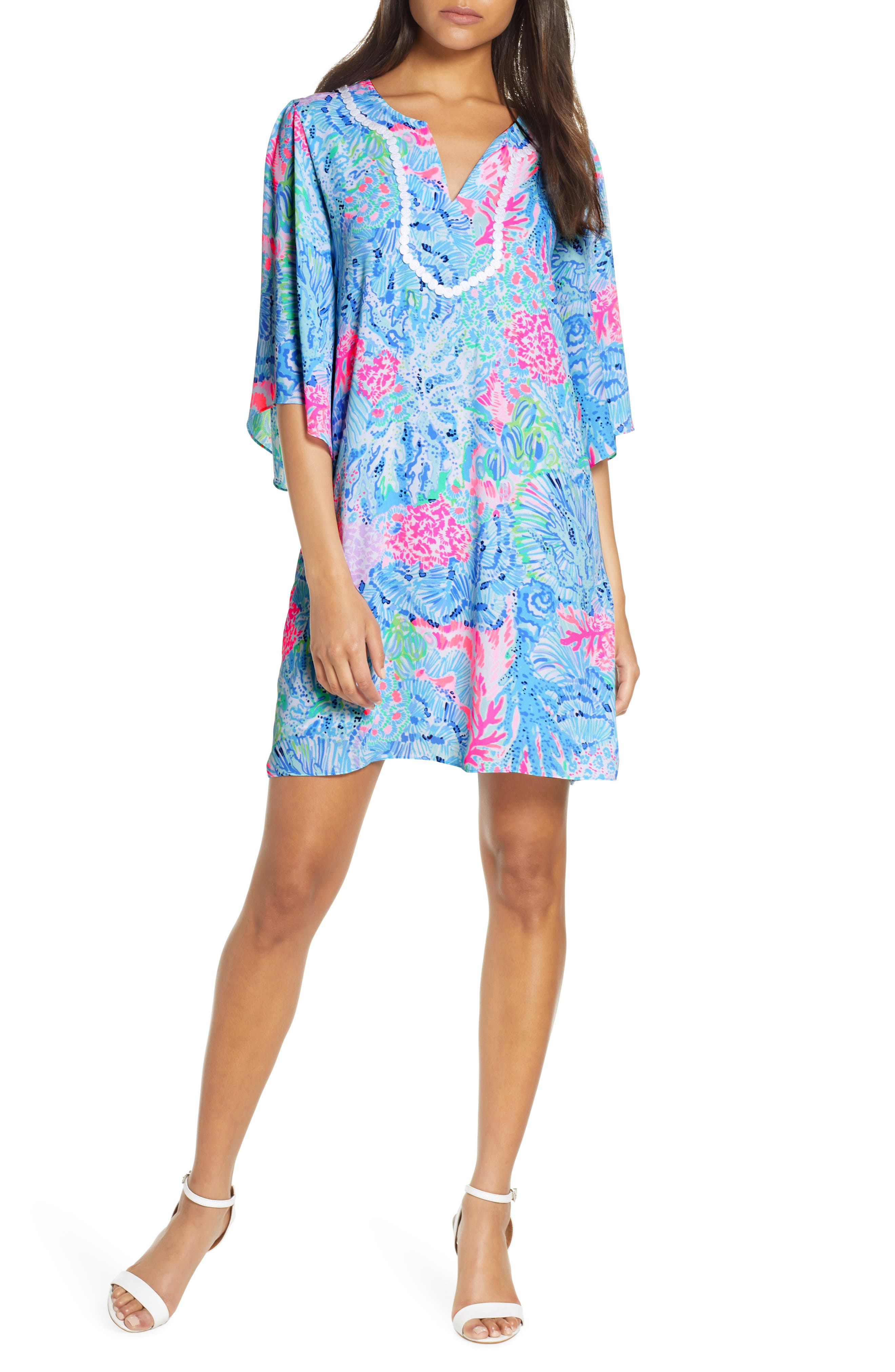 Lilly Pulitzer Delancey Shift Dress, Blue