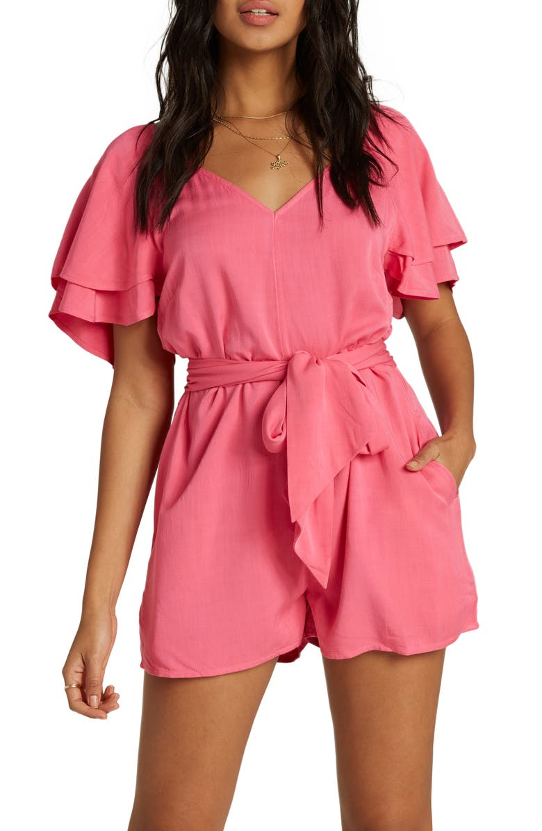 BILLABONG Sway and Sash Romper, Main, color, SUNSET PINK