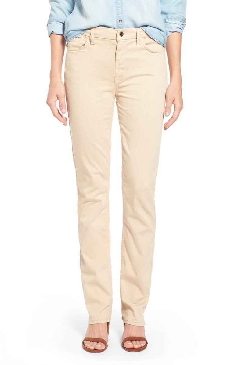 JEN7 BY 7 FOR ALL MANKIND Stretch Sateen Slim Straight Leg Pants, Main, color, 251