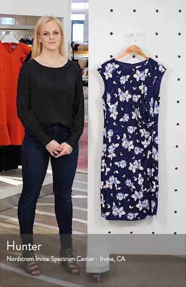 Floral Print Sheath Dress, sales video thumbnail