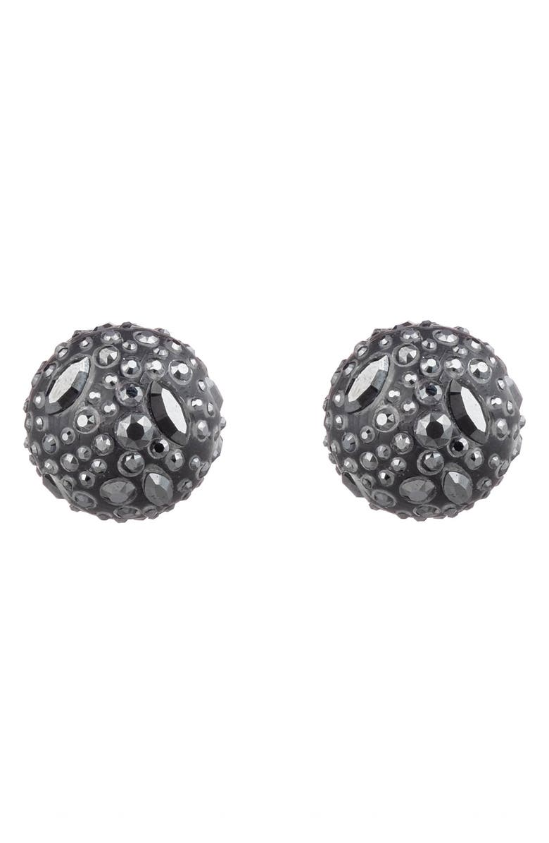 ALEXIS BITTAR Floral Noir Watery Sphere Clip-On Earrings, Main, color, 001