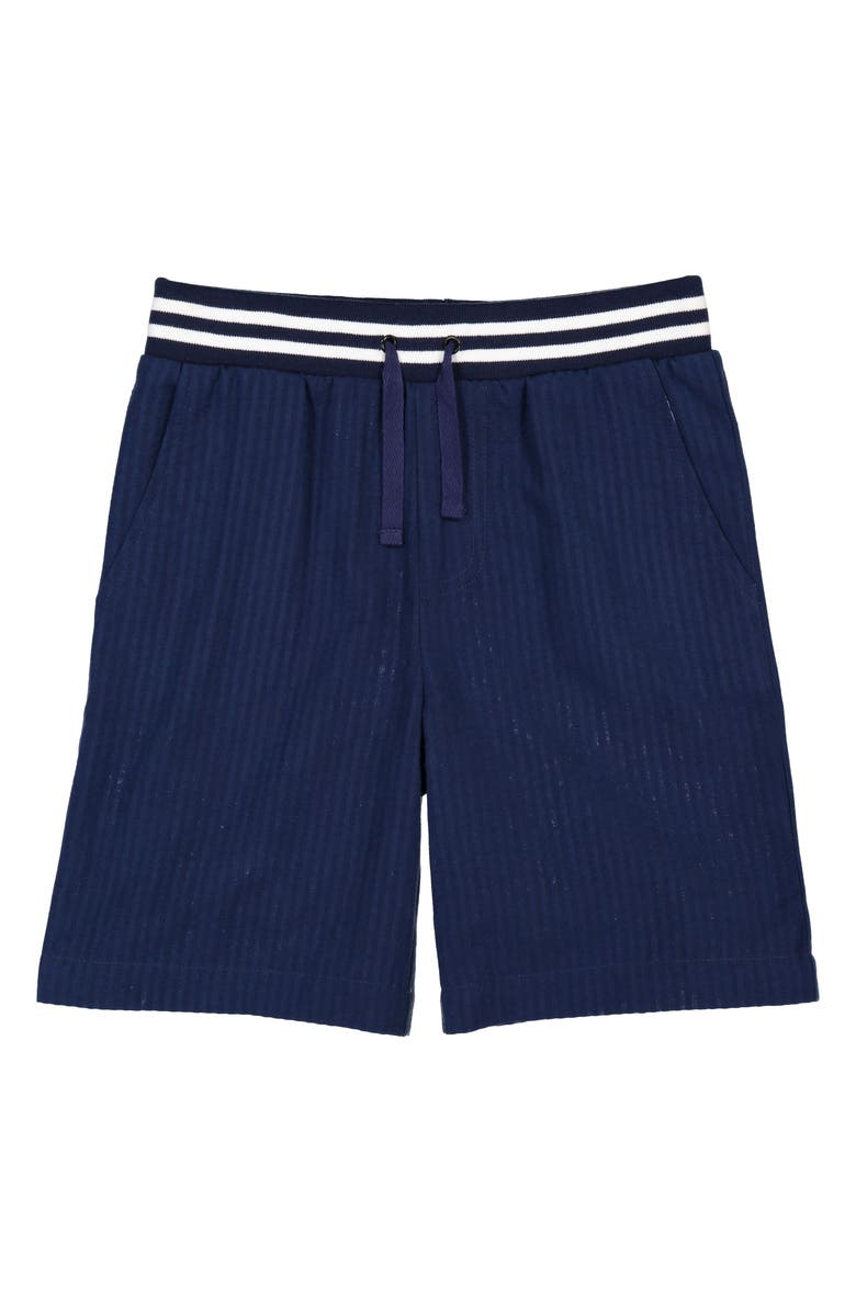 ANDY & EVAN Seersucker Shorts, Main, color, NAVY