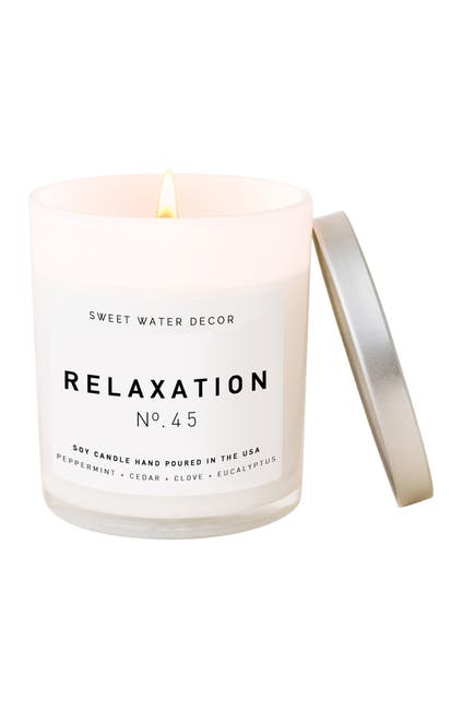 Image of SWEET WATER DECOR Relaxation 11 oz. Soy Jar Candle - Set of 2