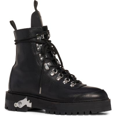Off-White Leather Hiking Boot, Black