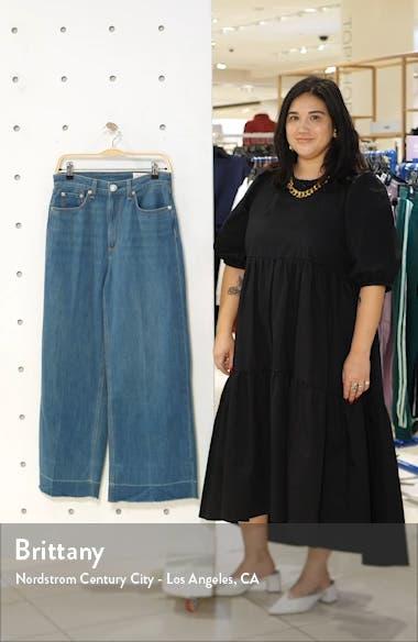Ruth Super High Waist Raw Crop Wide Leg Jeans, sales video thumbnail