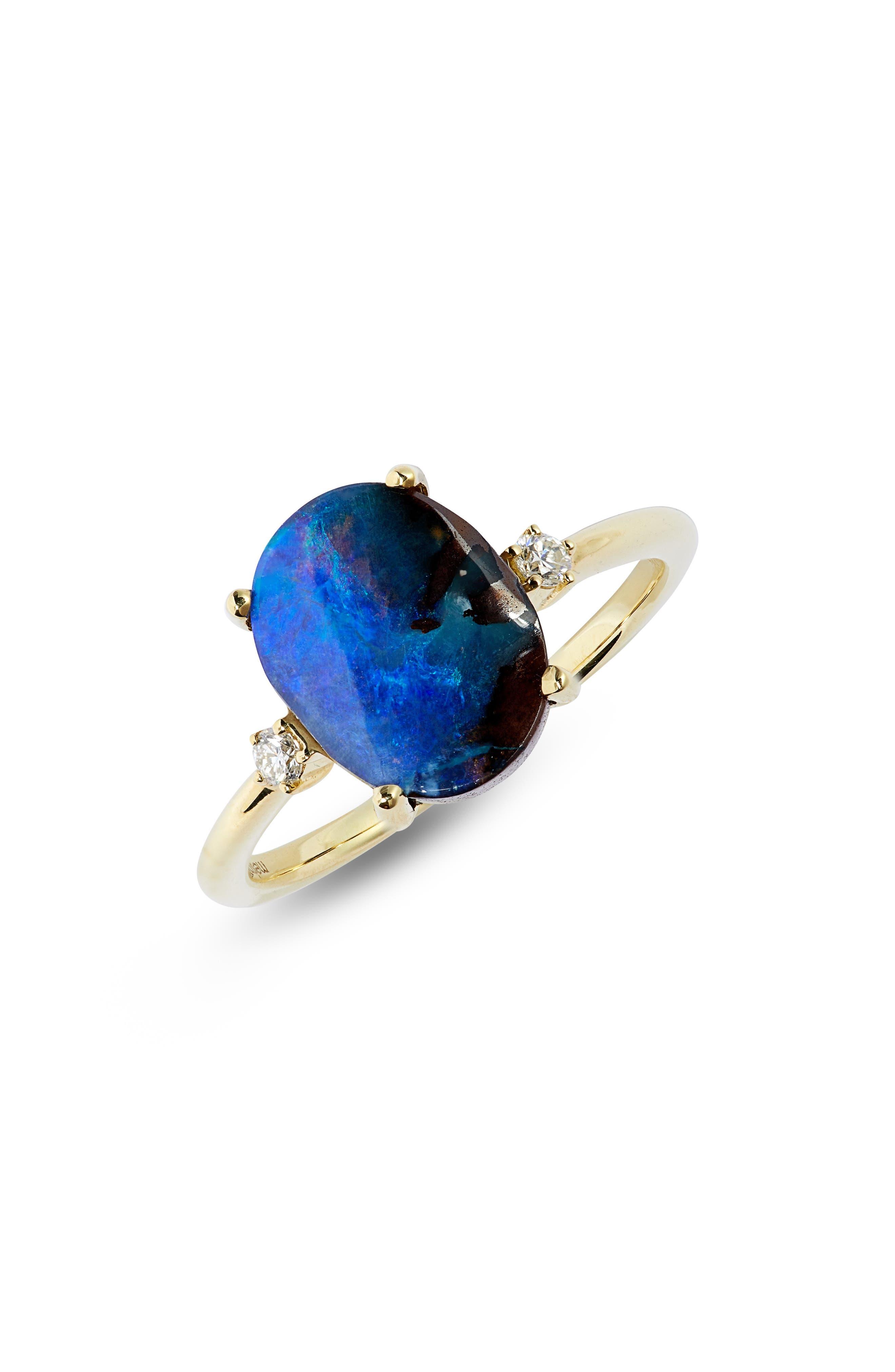 Women's Meira T Opal & Diamond Ring -  1R4668YG