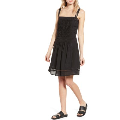 Scotch & Soda Summer Broderie Anglaise Sundress, Black