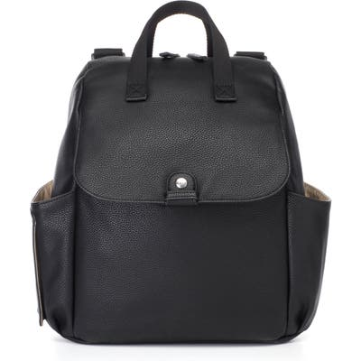 Babymel Robyn Convertible Faux Leather Diaper Backpack - Black