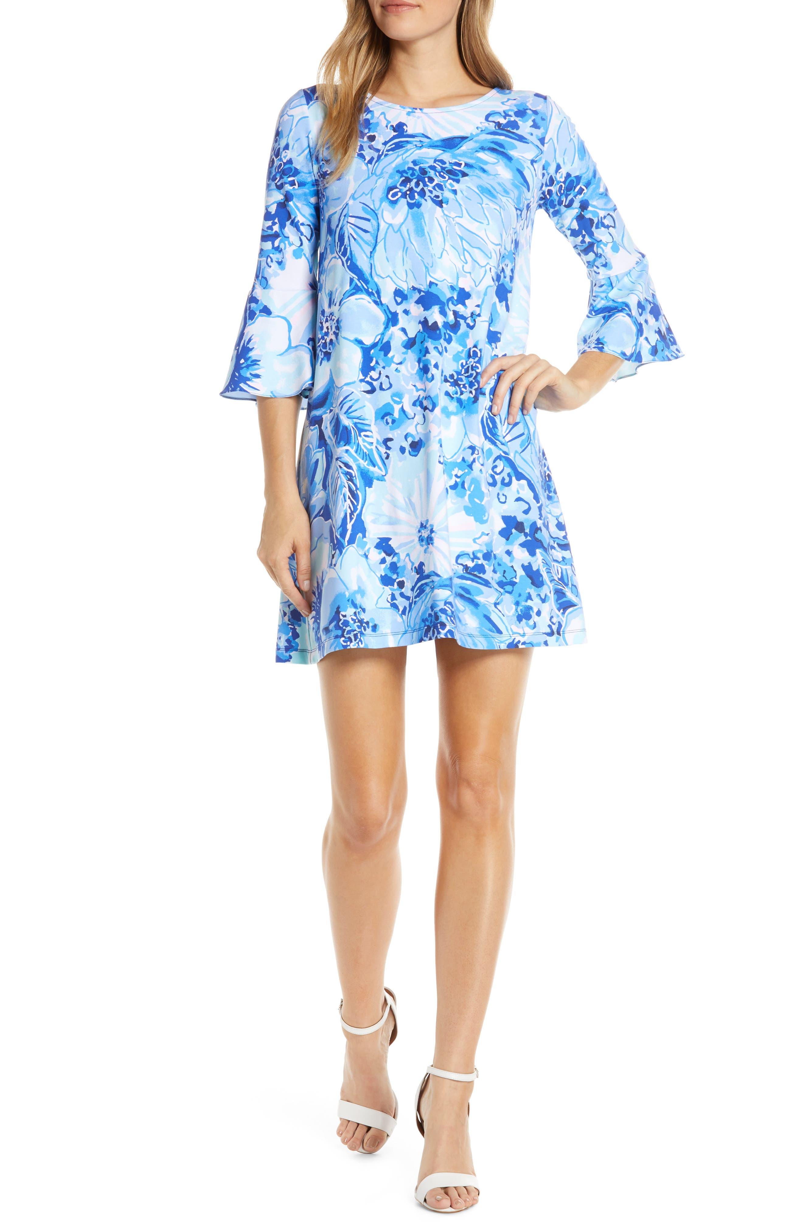 Lilly Pulitzer Ophelia Print Swing Dress, Blue