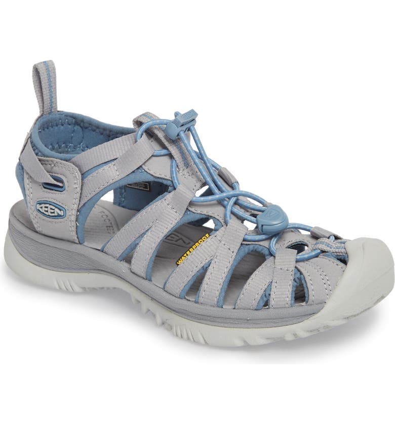 KEEN 'Whisper' Water Friendly Sport Sandal, Main, color, BLUE SHADOW/ ALLOY