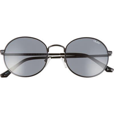 Quay Australia 50mm Mod Star Round Sunglasses - Black/ Smoke