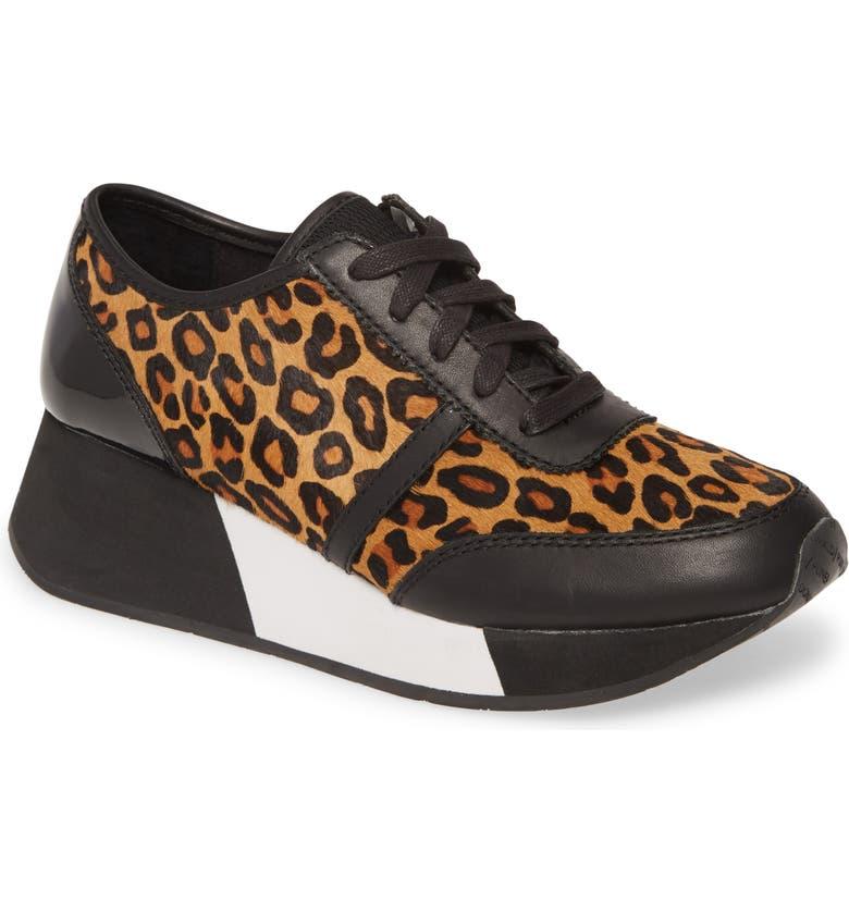 DONALD PLINER Payce Genuine Calf Hair Sneaker, Main, color, ANIMAL PRINT CALF HAIR