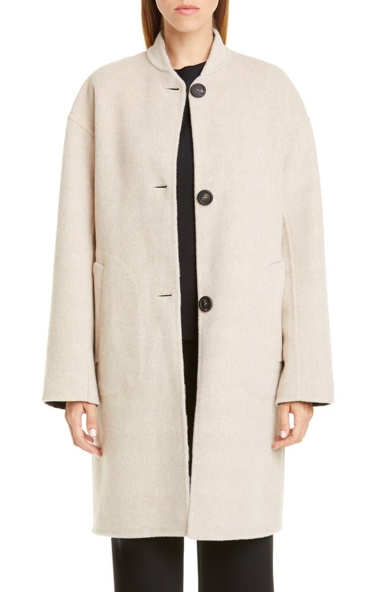 MANSUR GAVRIEL Reversible Double Face Wool Coat, Main, color, 250