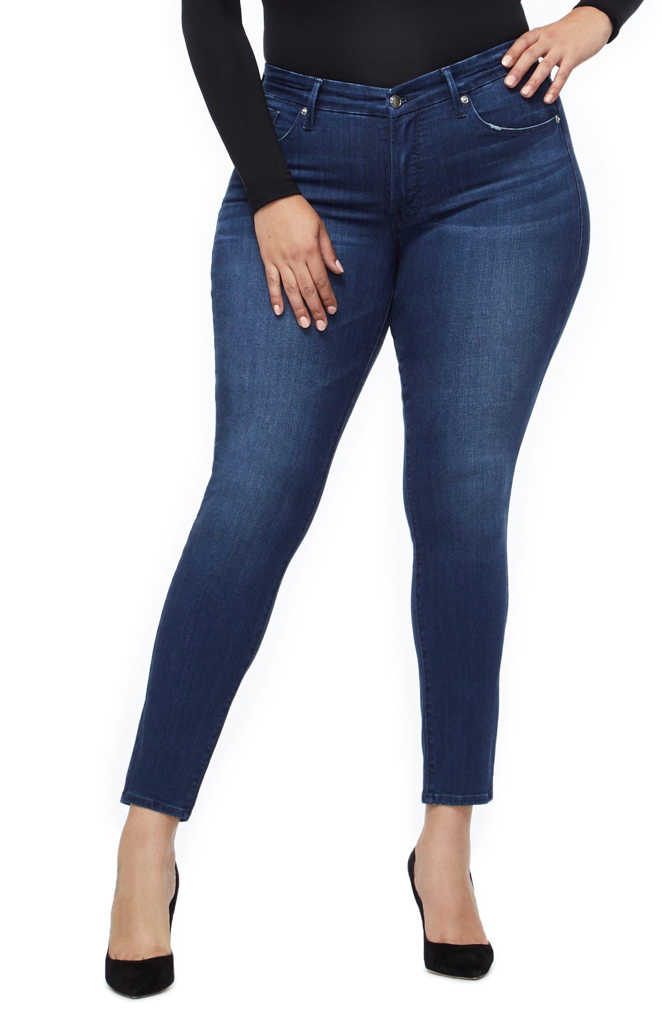 ,                             Good Legs High Waist Skinny Jeans,                             Alternate thumbnail 4, color,                             BLUE211